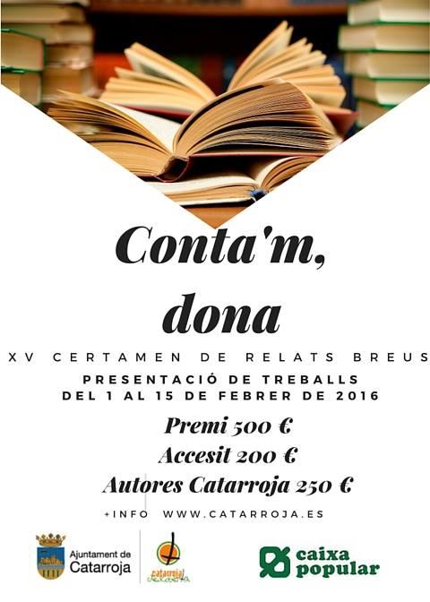 Cartelería oficial del certamen Conta'm, dona / Foto: Facebook Susana R. Miguélez