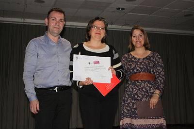 Susana fue la ganadora del certamen de relato breve en Conta'm, dona / Foto: Facebook Susana R. Miguélez
