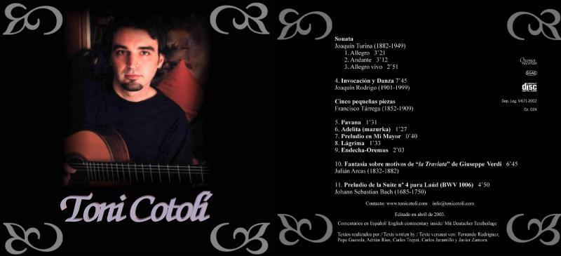 Portada: 2003 Toni Cotolí