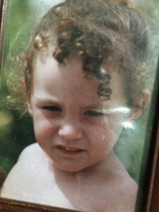 María Carrasco en su tierna infanciaMaría Carrasco en su tierna infancia