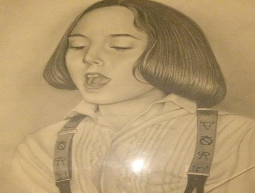 Retrato de María Carrasco cuando era niña