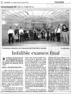 Recorte El Levante: Infalible examen final