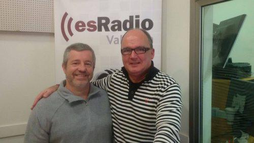 José Vte. García Torrijos con el locutor Pepe Navarro / Foto: es.Radio Valencia