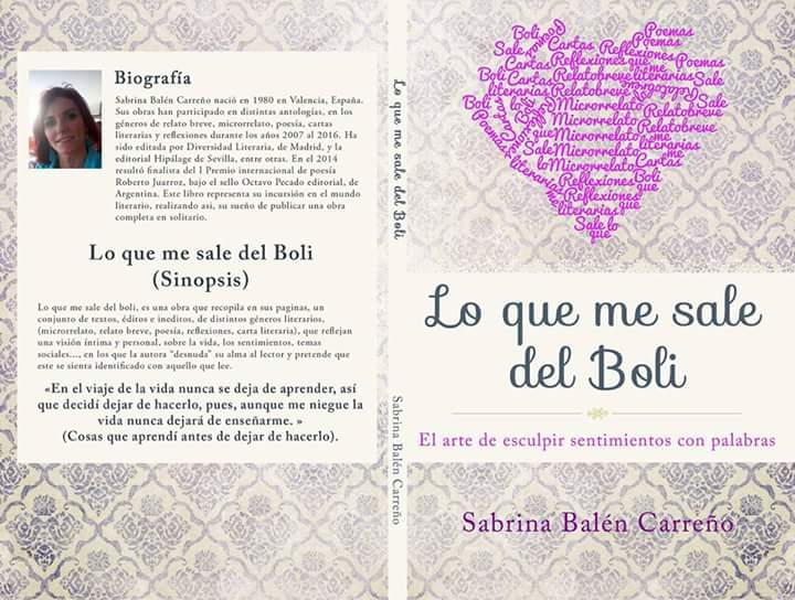 Libro: Lo que me sale del Boli / Portada: David Balén Carreño