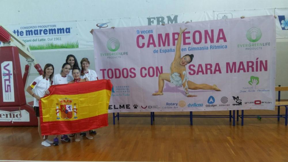 Sara Marín representando a España / Foto: Diarioinformacion.com