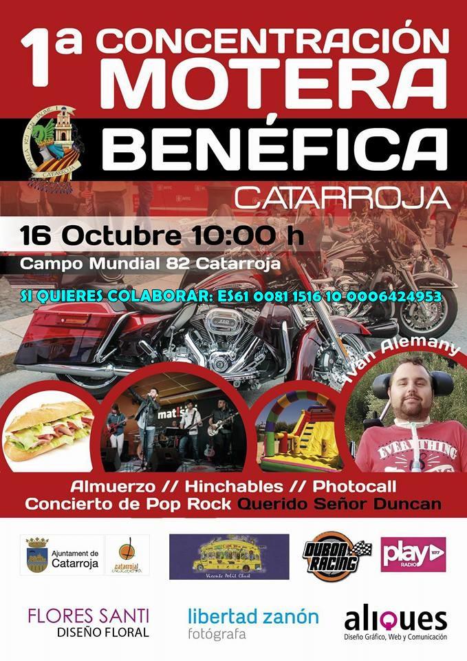Cartel del evento promocionando la jornada solidaria / Diseñadora del Cartel: Paula Vázquez (Diseño Gráfico Aliques).