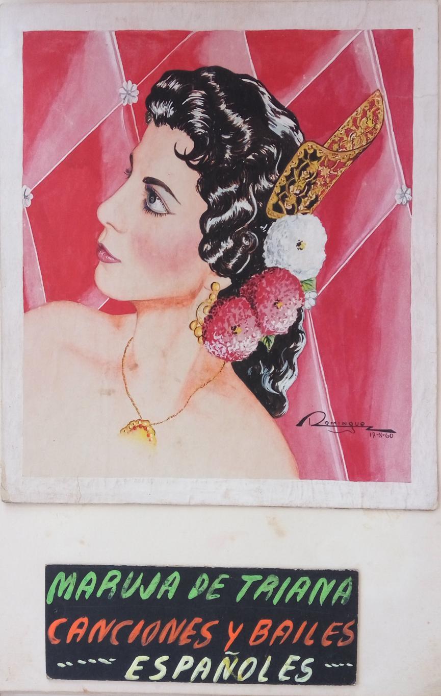 Portada de su book profesional / Ilustración cedida por: Caridad Lescaílles Farina