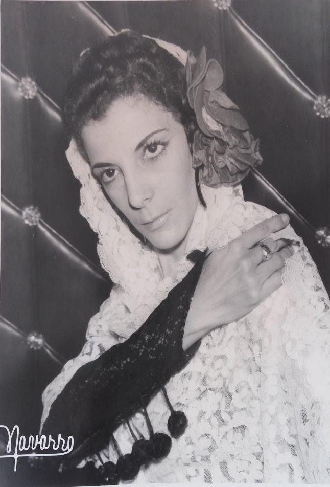 Maruja de Triana en el Cabaret Moroco Club / Foto cedida por: Caridad Lescaílles Farina