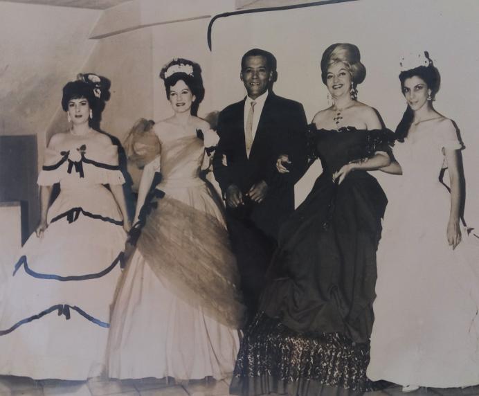 Matilde Rox, Carmen Malvido, Silvio Chaves, María de los Ángeles Santana y Maruja de Triana / Foto cedida por: Caridad Lescaílles Farina