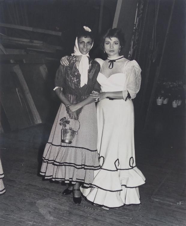Maruja de Triana y Sarita Montiel compartieron espectáculo en el Teatro García Lorca / Foto cedida por: Caridad Lescaílles Farina