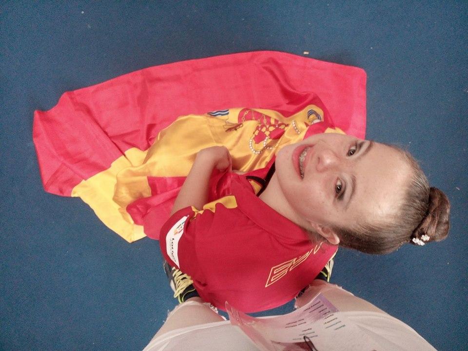 Sara Marín, en la actualidad es nueve veces consecutivas campeona de España. Foto cedida por: María José Fernández Díaz