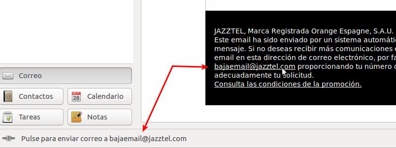 Ejemplo de un correo NO Spam.