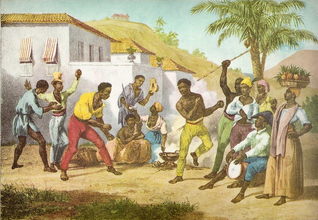 La Capoeira en las calles de Brasil de Mauricio Rugendas, 1825