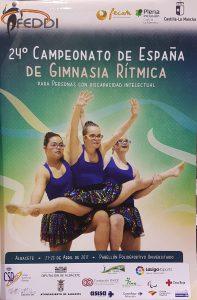 Cartel del XXIV Cto. de España de Gimnasia Rítmica