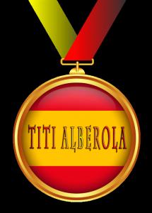 Medalla honorífica otorgada a Titi Alberola por El desván de Alejandro