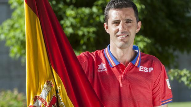 El abanderado español, Jairo Ruíz.