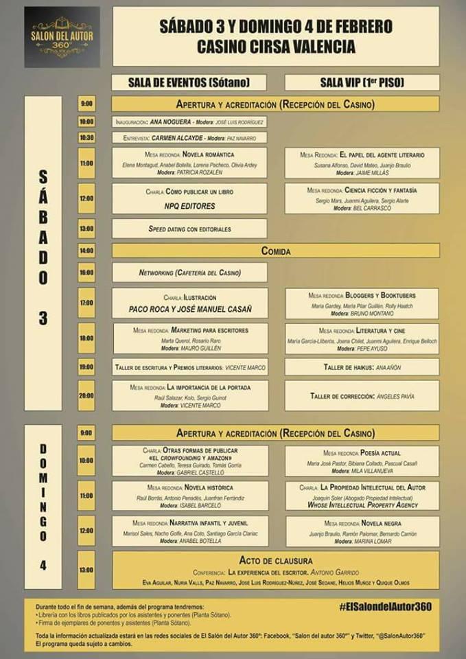 Planning del evento I Salón del Autor 360º