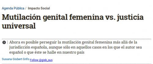 Haz clic para ver el artículo completo / Recorte: eldiario.es publicado el 26 de Octubre de 2014