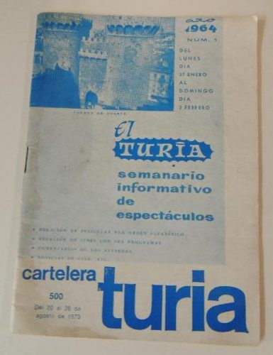 Portada del primer número de la Cartelera Turia