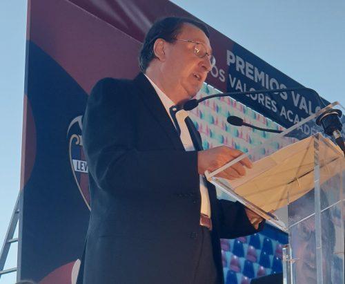 Paco López, es Presidente Honorífico del Club Levante U.D.