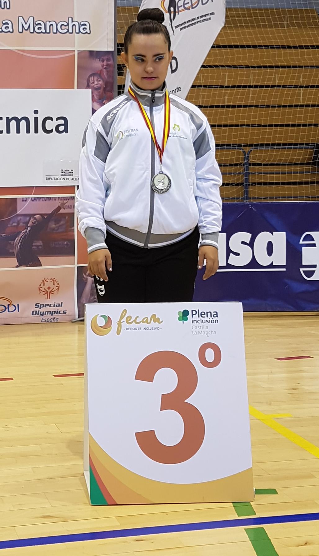 María, alcanzó una medalla de Bronce en el campeonato de España, celebrado en Albacete