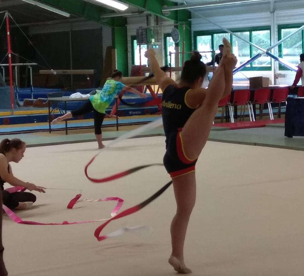 Sara Marín entrenando en el día previo de competición
