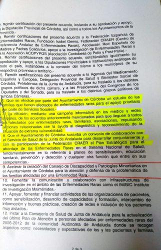 Certificación de Acuerdo por el Ayuntamiento de Córdoba pagina 2