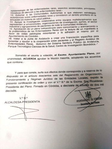 Certificación de Acuerdo por el Ayuntamiento de Córdoba pagina 3