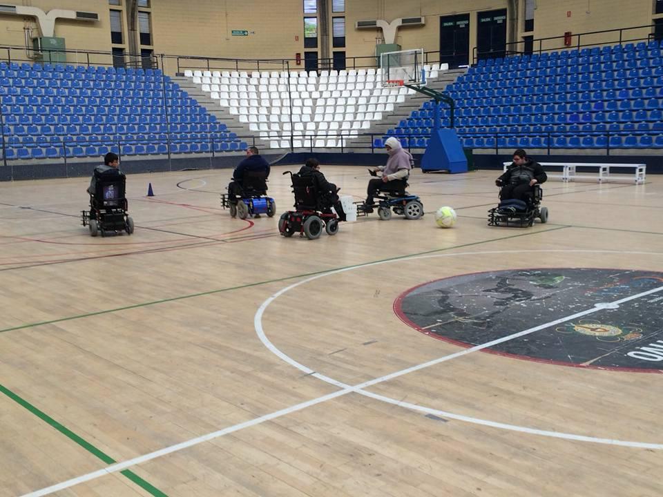 El equipo Powerchair Xaloc Alacant en una jornada de entrenamiento.