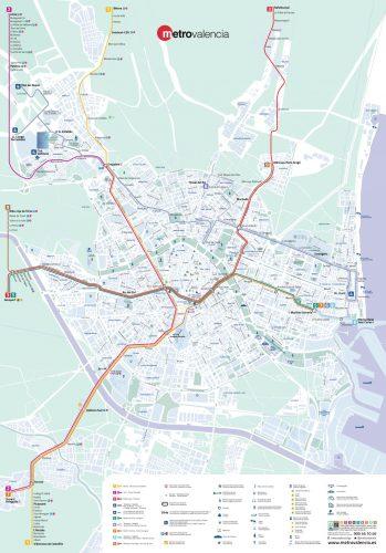 Plano General 2018 de Metrovalencia.